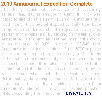 Text Box: 2010 Annapurna I Expedition Complete